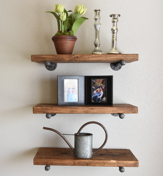 Using Forked Tree Branches As Its Support This Rustic Shelf Adds A Touch Of Nature To Your Living Room While Providing You With Added Storage For